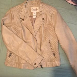 American Rag Jackets & Coats - Tan pleather jacket